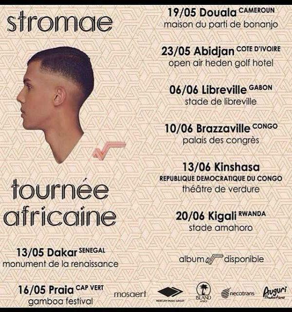 Stromae, Tour por África en 2015