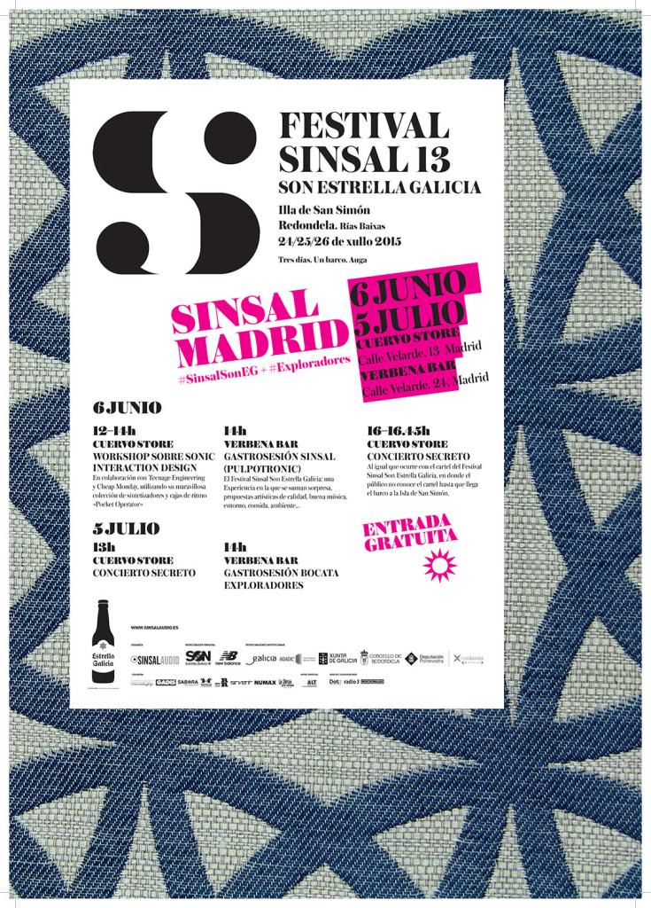 Cartel Sinsal SON Estrella Galicia en Madrid