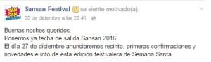 Sansan fecha