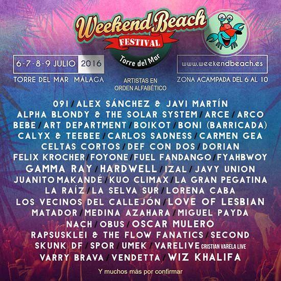 Canteca de macao confirmados para el weekend beach for Juanito makande malaga