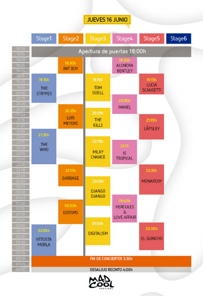 horarios-mad-cool-festival-jueves