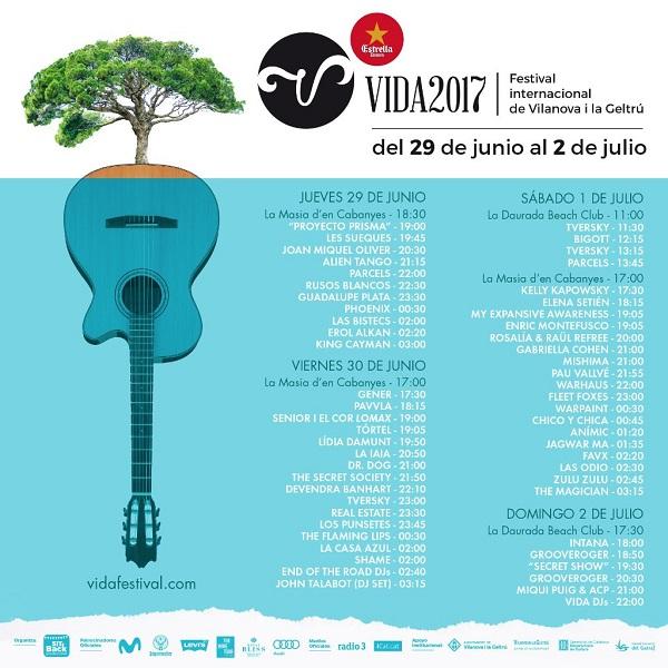 Vida Festival 2017 horarios