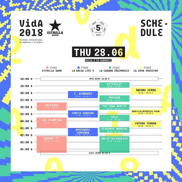 Vida Festival jueves 2018
