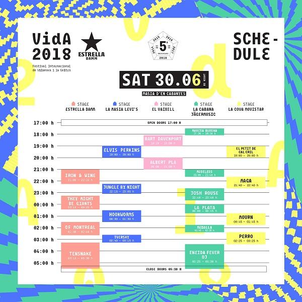 Vida Festival sábado 2018