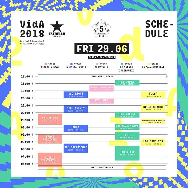 Vida Festival Viernes 2018