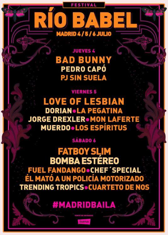 El festival Río Babel cierra su cartel de 2019 con nuevos artistas confirmados para celebrar su tercera edición de festival.